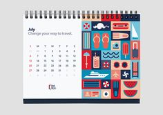 Illustration | Wall Street English Calendar 2014 by Luca Fontana