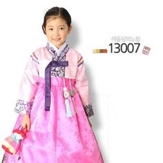 Korean Girl dress Hanbok Korea traditional clothing Party wedding Baby 13007