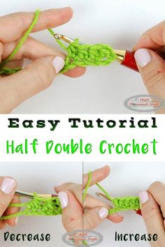 Learn how to crochet a Half Double Crochet easily. You will also learn how to increase and decrease this basic stitch. It comes with a Photo and Video Tutorial. #crochet #freecrochet #freepattern #freecrochetpattern #halfdoublecrochet #crochetutorial #halfdoublecrochetincrease #increase #halfdoublecrochetdecrease #decrease #basiccrochet