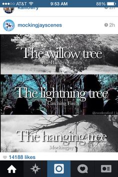 All of the different types of trees from hunger games