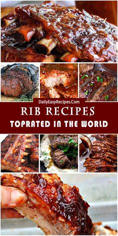 Mouth-Watering Rib Recipes That You'll Actually Want to Enjoy – Yummy – Best Ideas for Dinner Pork Rib Recipes, Grilling Recipes, Meat Recipes, Cooking Recipes, Pork Dishes, Tasty Dishes, Slow Cooker Pork Ribs, Ripped Recipes, Dinner Dishes