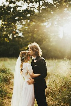 golden hour wedding inspiration | katelyn shanice photography | image via: junebug weddings