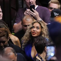 Hold Up! #Beyonce was spotted at the #NBAFinals as the #Cavs push on to the 7th and final game!