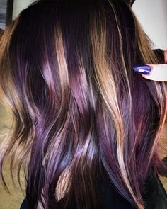 Are you looking to spice up your old hair and try something fun? These are the newest hair color trends that you need to try out immediately. 2018 is full of new hair color trends will make you feel brand new and confident. Hair Color And Cut, Ombre Hair Color, New Hair Colors, Cool Hair Color, Purple Hair Highlights, Darker Hair Color Ideas, Unique Hair Color, Mahogany Highlights, Purple Hair Streaks