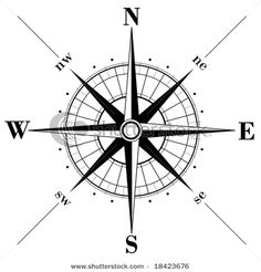 Compass Rose on wall, chalkboard, ceiling, rug, accent pillow