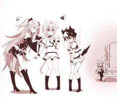 Hahaha....Krul have done a great job turning Yuu and Mika a lovely girls XD