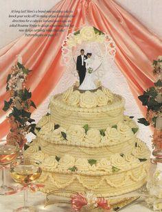 crochet wedding cake....?, via Etsy.