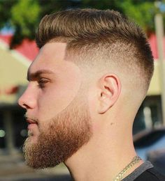 The Most Popular Beard Grooming Styles in 2018 - Neatly Trimmed is Top Skin Fade x Fohawk by .Nicely blended and the beard is Fade Haircut With Beard, Beard Haircut, Beard Fade, Beard Look, Men Beard, Faded Beard Styles, Best Beard Styles, Hair And Beard Styles, Hair Styles