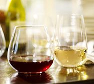 These stem-less wine glasses are genius and a must for any home entertainer.