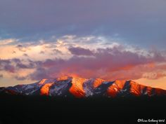 Taos Mountain at Sunset Image ©Nina Anthony (free to share with photo credit)