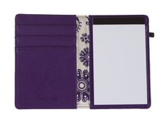 The #GraceAdele Journal in grape. The card slots would be a perfect place to keep your rewards cards while checking your shopping lists!