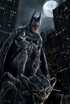 Batman. Orphan.  And the hero's view of the city from up high.   Arkham Knight - Fan Art by Bakirasan on DeviantArt.