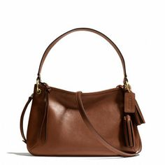 LEGACY DOUBLE GUSSET CROSSBODY IN LEATHER - COGNAC