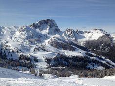 Skiing Nassfeld, Trogkofel, Carinthia, Kärnten