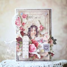 Ideas Vintage Cards Handmade Shabby Sweets For 2019 Shabby Chic Green, Vintage Shabby Chic, Card Tags, I Card, Religious Christmas Cards, Card Creator, Shabby Chic Cards, Vintage Crafts, Flower Cards