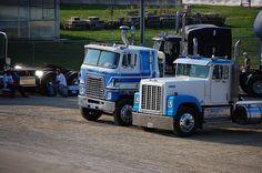 Two Old International Semi Trucks by gwhawes