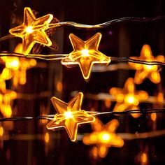 CozyFoci Dimmable Copper Wire Led String Lights 3m with Lovely Stars Starry Light Battery Power Christmas Wedding Party Table Deco ** Check this awesome product by going to the link at the image.
