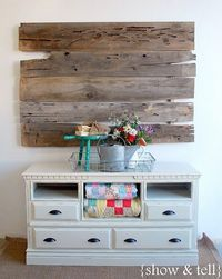 old dresser turned TV console - we need one of these so badly!