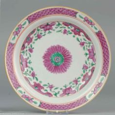 18/19C Chinese Porcelain Bencharong Plate Dish Thai  Lovely Chinese Porcelain Bencharong Plate Dish