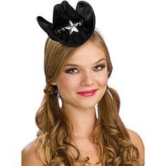 d8e52e43987 Black Mini Cowgirl Hat. Black Cowboy ...