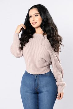 Off Balance Sweater - Dusty Pink