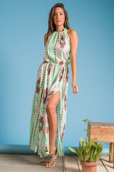 Spiral Dress with Flowy Greek Style