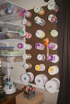 18 Ribbon and Fabric Storage Ideas