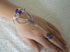Slave Bracelet, gothic jewelry goth jewelry medieval jewelry renaissance jewelry moroccan jewelry boho gypsy bohemian belly dance handflower