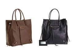 Balenciaga Brown and Black Papier A5 Zip Around Bag