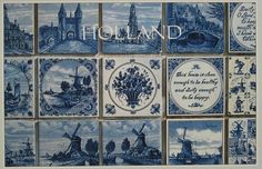 Dutch delft blue postcards