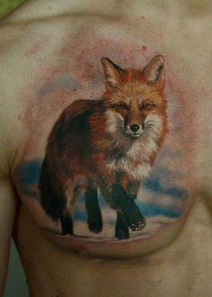 Fox tatuagem em shest - 50 Exemplos de tatuagem Fox | Arte e Design
