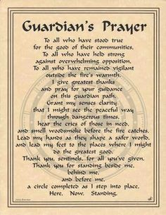 Guardian's Prayer Parchment Book of Shadows Page or Poster! in Collectibles, Religion & Spirituality, Wicca & Paganism