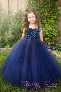 Navy Tutu Dress by FrostingShop on Etsy