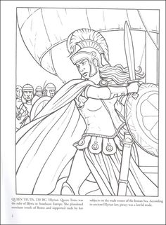 Pirate Queens: Notorious Women of the Sea Coloring Book | Additional Photo (Inside Page)