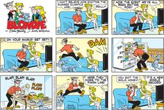 When making the Dagwood Sandwich it's all about size AND speed as in this #Blondie #comic  www.trythisnewrecipe.blogspot.com