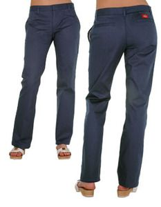 Dickies Girl Og Lowrider Pants | Dickies Girls Low Rider Work Pants Navy Size 0 - 15