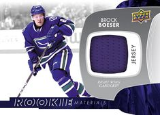 Rookie Materials Brock Boeser Young Guns, Hockey Cards, Upper Deck, Sports, Hs Sports, Sport, Young Life Camp