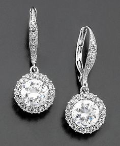 Eliot Danori Earrings, Cubic Zirconia (3 ct. t.w.) and Crystal Accent Leverback $45 at Macy's
