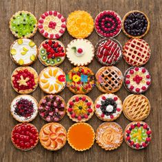 Dollhouse Miniatures Collection of Mixed Fruit Tart and Pie on Aluminum Dish Dessert Sweets Food Decoration Bakery Supply – …