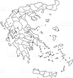 printable maps greece map black and white Printable Maps, Printables, Greece Map, Diagram, Black And White, Art, Art Background, Black N White, Printable Cards