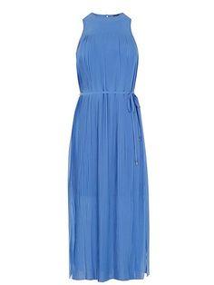 Micro Pleat Midi Dress