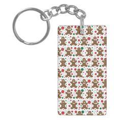 Gingerbread Men Key Chain - holidays diy custom design cyo holiday family