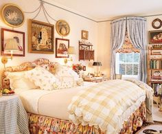 Hydrangea Hill Cottage: Romantic Bedrooms of Mario Buatta Dream Bedroom, Home Bedroom, Bedroom Decor, Shabby Bedroom, Shabby Cottage, Master Bedroom, Shabby Chic, English Country Decor, French Country Bedrooms