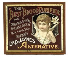 lae 19th century ad for patent medicine -- Dr. Jaynes Best Blood Purifier