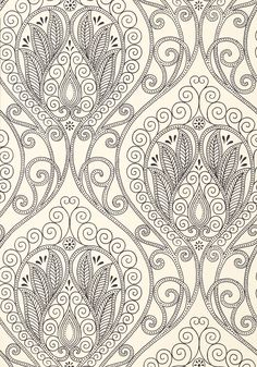 RIO, Black and White, T732, Collection Artisan from Thibaut