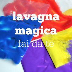 Come fare la lavagna magica fai da te per bambini. Con la lavagna magica fai da te i bambini sono liberi di giocare con i colori senza sporcare.