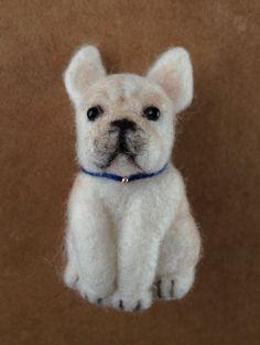 羊毛フェルト*フレンチブルドッグ ブローチ*ハンドメイド 犬 - ヤフオク!