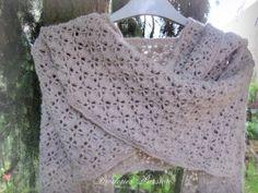 Tuto crochet :écharpe etole ....