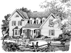 Colonial House Plan with 3100 Square Feet and 4 Bedrooms from Dream Home Source | House Plan Code DHSW55468