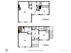 Myydään Puutalo-osake 4 huonetta - Turku Keskusta Piispankatu 6 - Etuovi.com 9465863 Osaka, Floor Plans, Diagram, Floor Plan Drawing, House Floor Plans